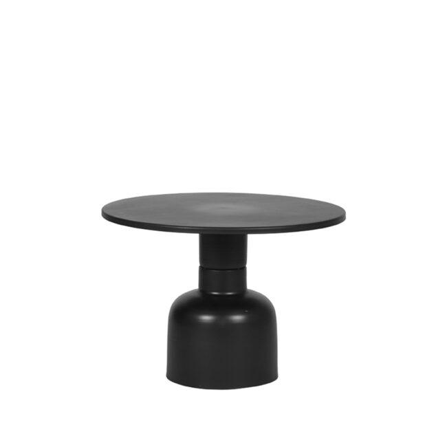LABEL51 Bijzettafel Wink 51x51x36 cm - Zwart - Metaal