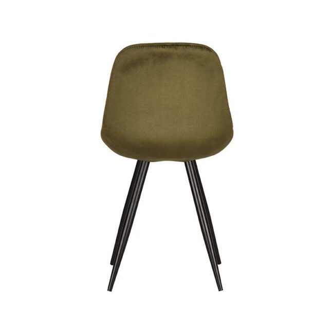 LABEL51 Eetkamerstoel Capri - Army green - Fluweel - FF-45.028
