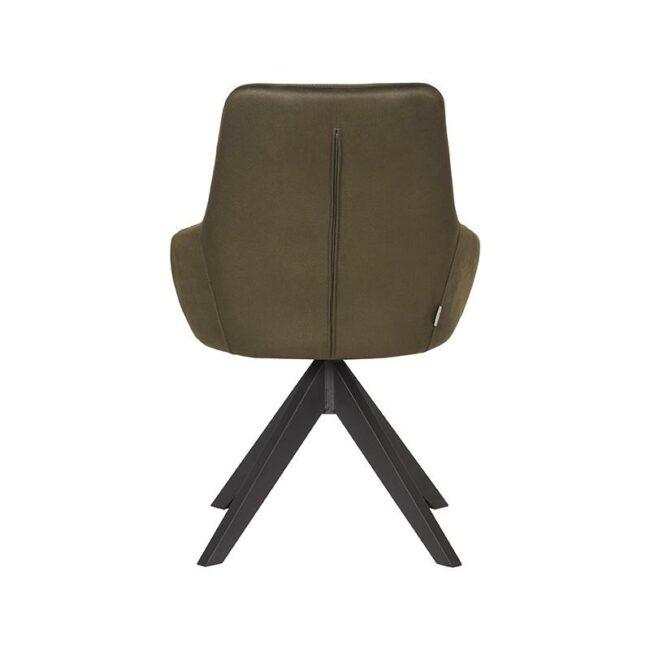 LABEL51 Eetkamerstoel Jace - Army green - Microfiber - IH-50.008