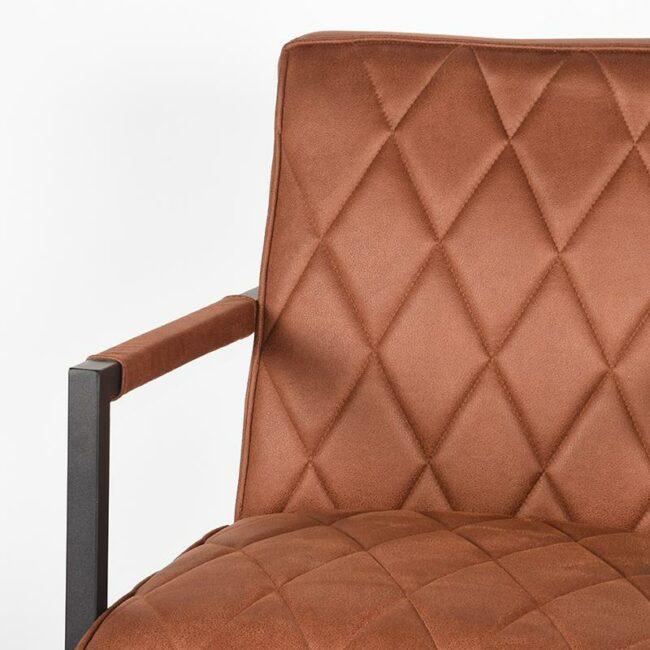 LABEL51 Fauteuil Denmark - Cognac - Microfiber - PI-47.023