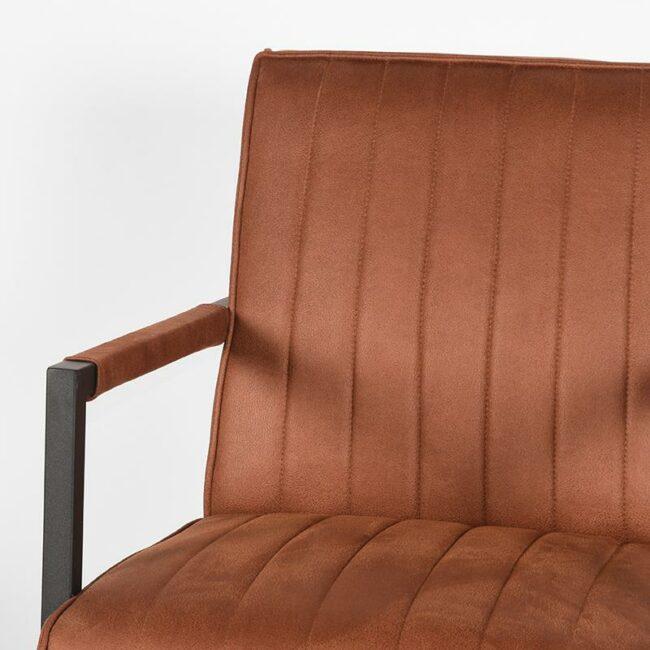 LABEL51 Fauteuil Milo - Cognac - Microfiber - PI-47.011