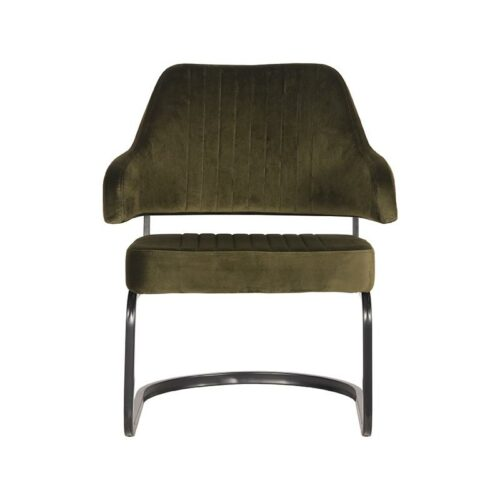 LABEL51 Fauteuil Otta - Army green - Fluweel