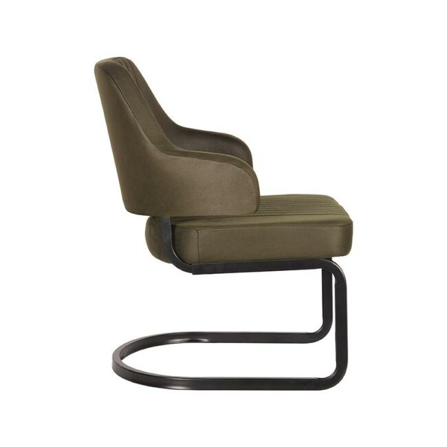 LABEL51 Fauteuil Otta - Army green - Microfiber - UK-30.184