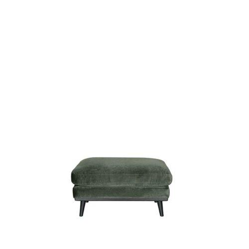 LABEL51 Hocker Siena - Army green - Fluweel