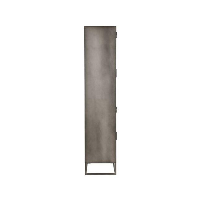 LABEL51 Vitrinekast Level - Grijs - Metaal - 80x40x190 cm - SL-51.013