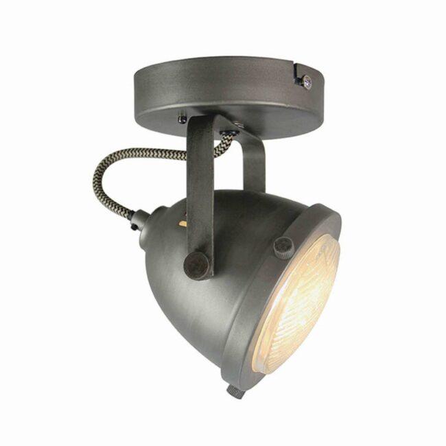 LABEL51 Spot Moto led - Burned Steel - Metaal - 1 Lichts