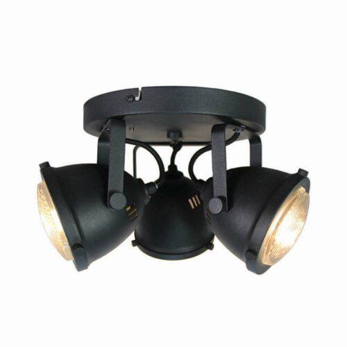 LABEL51 Spot Moto - Zwart - Metaal - 3 Lichts