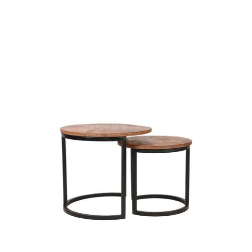 LABEL51 Coffee Table Set Duo - Rough - Wood