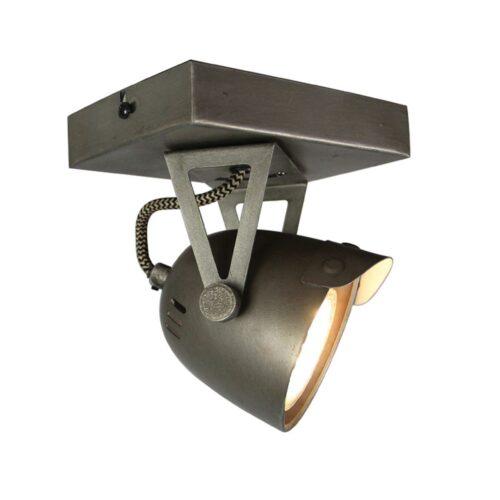 LABEL51 Spot Cap - Grijs - Metaal - 1 Lichts