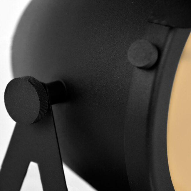 LABEL51 Tafellamp Cap - Zwart - Metaal - MT-2176