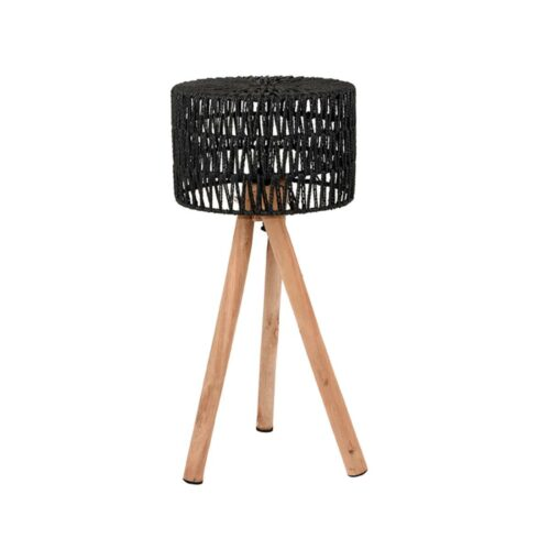 LABEL51 Tafellamp Stripe - Zwart - Katoen