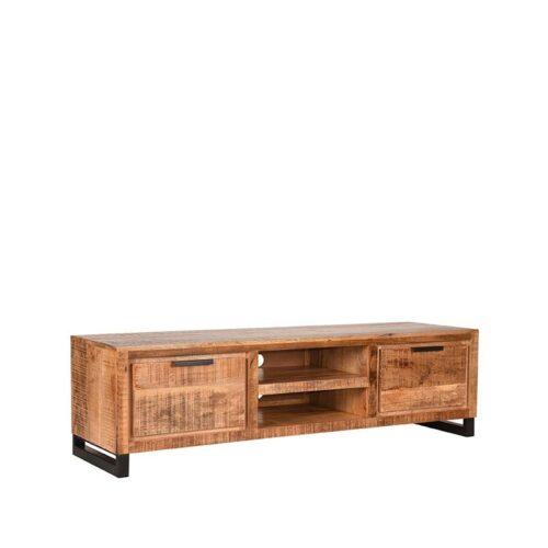 LABEL51 Tv-meubel Glasgow - Rugueux - Mangohout - 160 cm