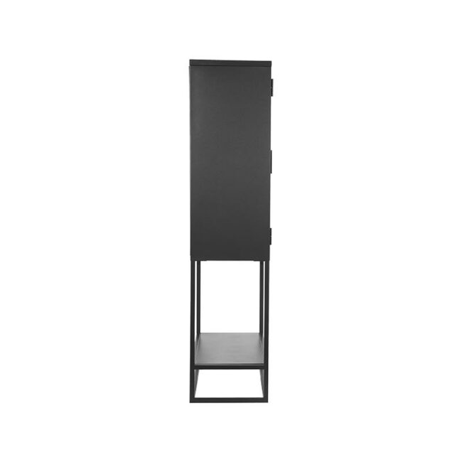 LABEL51 Vitrinekast Level - Zwart - Metaal - 70x35x150 cm - SL-51.016