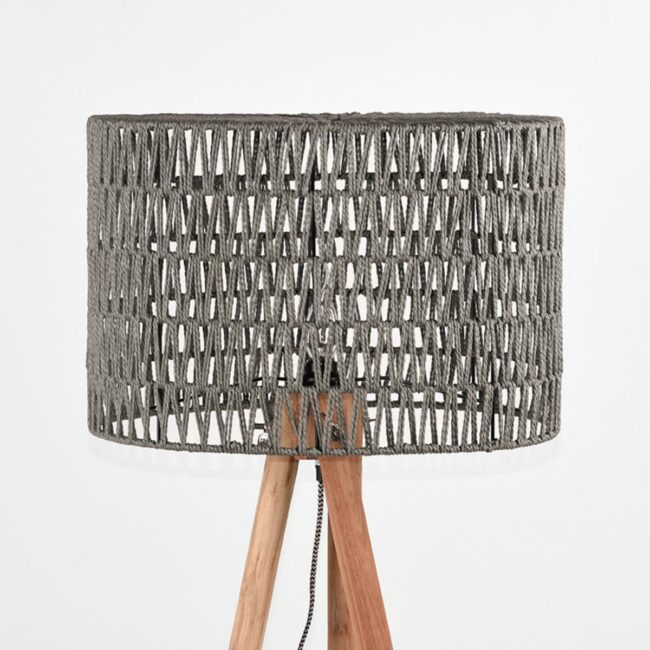 LABEL51 Vloerlamp Stripe - Grijs - Mangohout