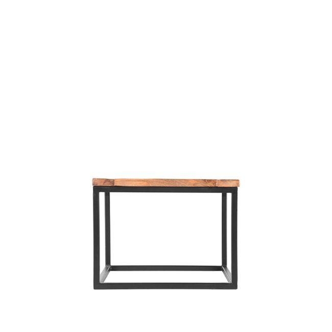LABEL51 Bijzettafel Box - Rough - Mangohout - 60x60 cm - AP-13.005
