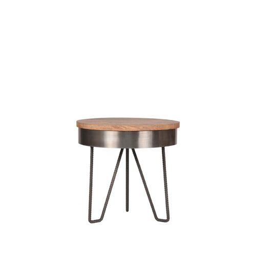 LABEL51 Side table Saran - Antique grey - Metal - Around - 44 cm