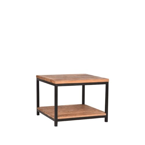 LABEL51 Side Table Vintage - Rough - Mangohout - 60x60 cm