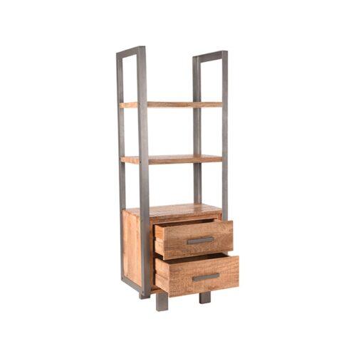 LABEL51 Boekkast Factory - Rough - Mangohout
