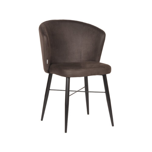 LABEL51 Dining Chair Wave - Anthracite - Microfiber