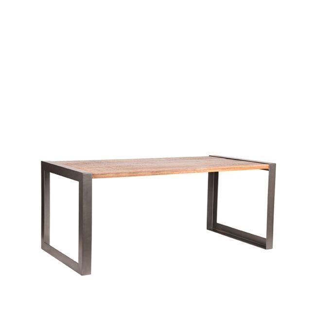 LABEL51 Eetkamertafel Factory - Rough - Mangohout - 240x95 cm