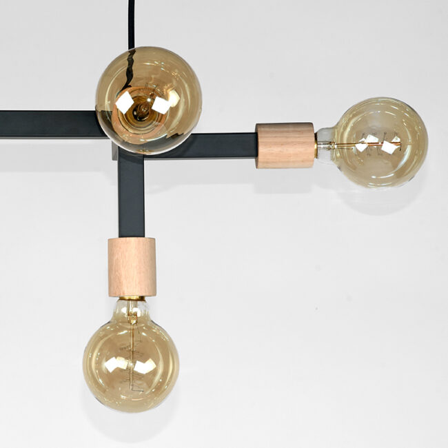 LABEL51 Hanglamp Loco - Zwart - Metaal - MT-2233