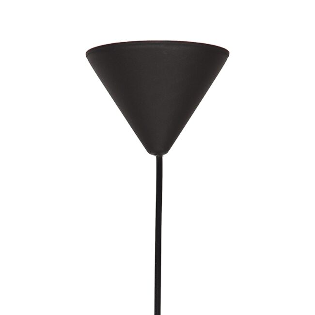 LABEL51 Hanglamp Twist - Zwart - Vlas - M - QP-4018