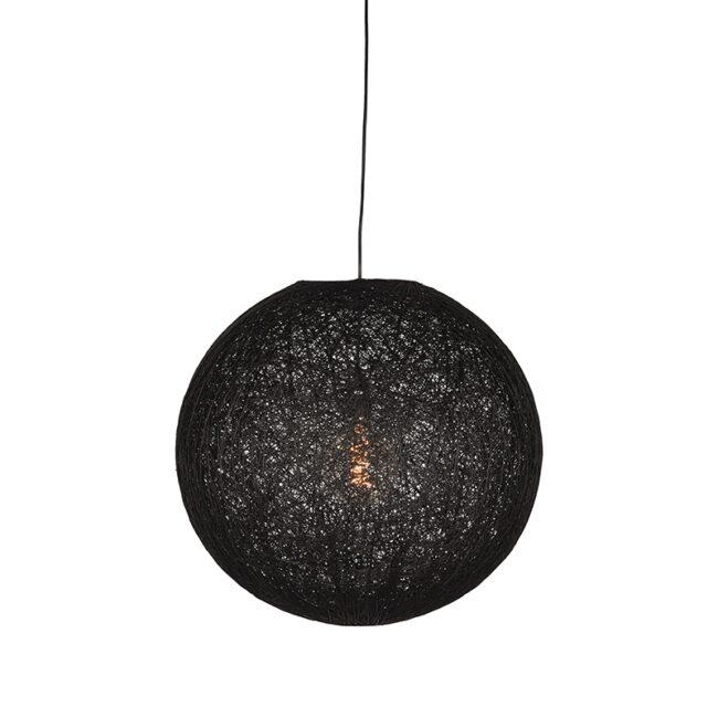 LABEL51 Hanglamp Twist - Zwart - Vlas - M
