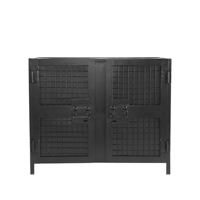 LABEL51 Boekkast Gate - Zwart - Metaal - 2 Deurs