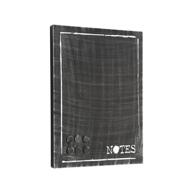 LABEL51 Wanddecoratie Memobord - Zwart - Metaal