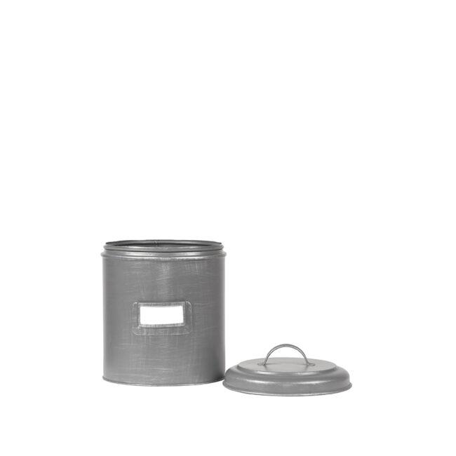 LABEL51 Opbergblik Opbergblik - Antiek grijs - Metaal - S
