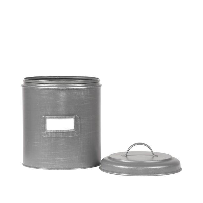 LABEL51 Opbergblik Opbergblik - Antiek grijs - Metaal - L
