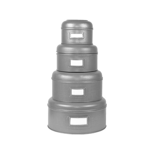 LABEL51 Opbergblik Opbergblik - Antiek grijs - Metaal - XL - 25x25x13 cm - GS-12.051