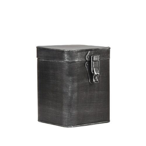 LABEL51 Opbergblik Opbergkist - Antiek grijs - Metaal - L