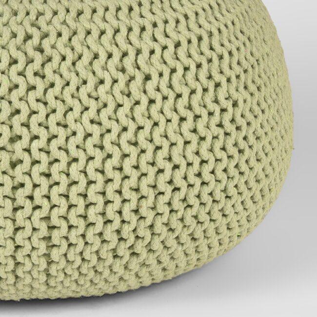 LABEL51 Poef Knitted - Groen - Katoen - L - MA-27.037