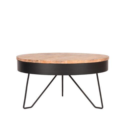 LABEL51 Coffee Table Saran - Black - Metal - Around - 80 cm
