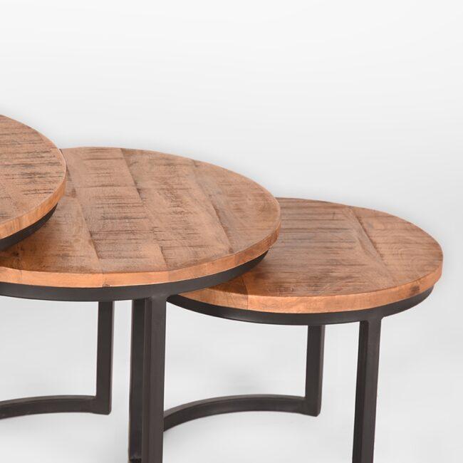 LABEL51 Salontafel Set Triplet Mangohout | Wiegers XL