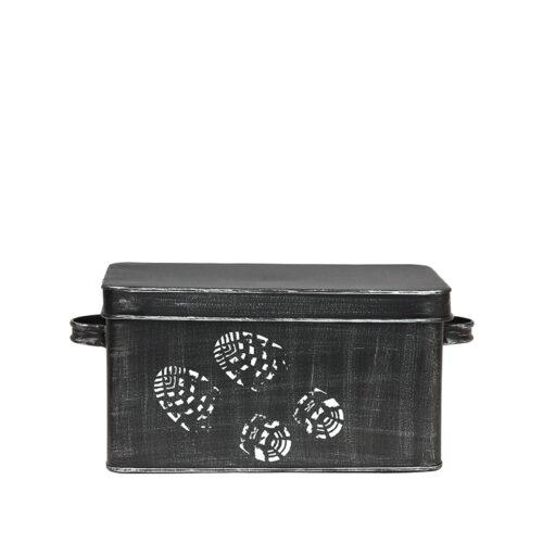 LABEL51 Opbergblik Schoenpoets opbergkist - Zwart - Metaal