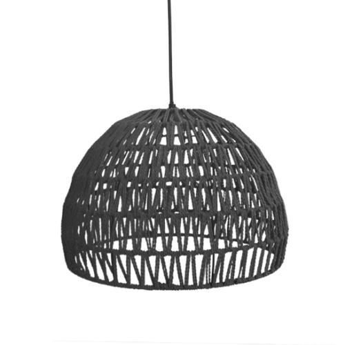 LABEL51 Hanglamp Rope - Zwart - Stof - L