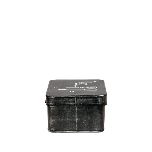 LABEL51 Make-Up opbergkist - Zwart - Metaal - GS-12.067
