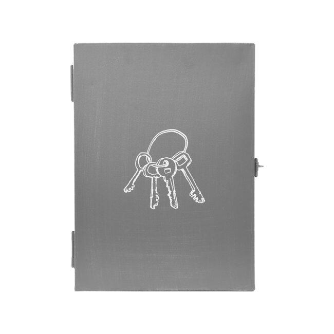 LABEL51  Sleutelkastje - Antiek grijs - Metaal
