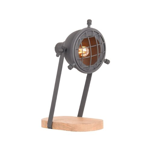 LABEL51 Tafellamp Grid - Grijs - Metaal