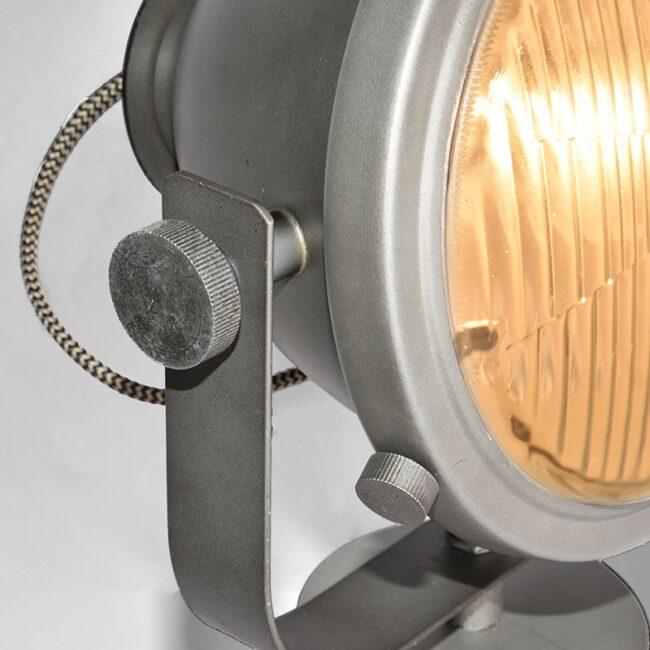 LABEL51 Tafellamp Tuk-Tuk - Grijs - Metaal - MT-2180