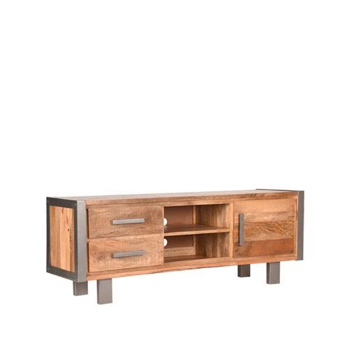 USINE LABEL51 Tv-meubel - Rugueux - Mangohout - 160 cm