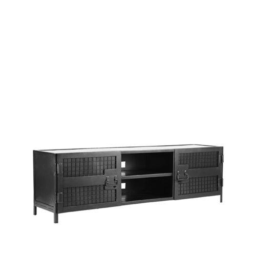 LABEL51 Tv-meubel Gate - Zwart - Metaal - 160 cm