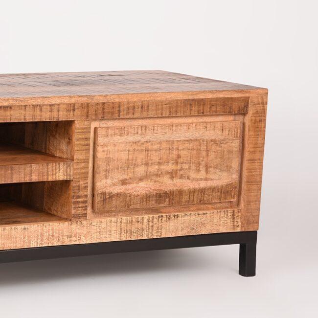 LABEL51 Tv-meubel Ghent - Rough - Mangohout - 160 cm - RF-37.069