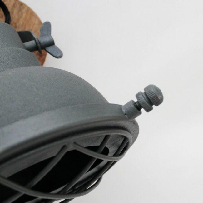 LABEL51 Wandlamp Grid - Antiek grijs - Metaal