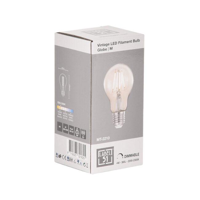 LABEL51 Lichtbron Led Kooldraadlamp Bol - Glas - M - MT-2210
