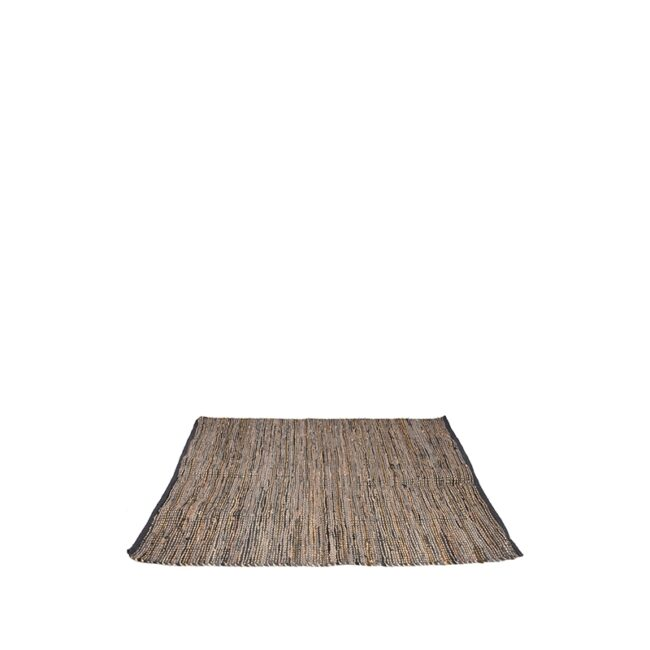 LABEL51 Vloerkleed Brisk - Antraciet - Natuurlijk materiaal - 160x140 cm