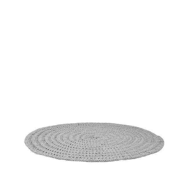 LABEL51 Vloerkleed Knitted - Grijs - Katoen - 150x150 cm