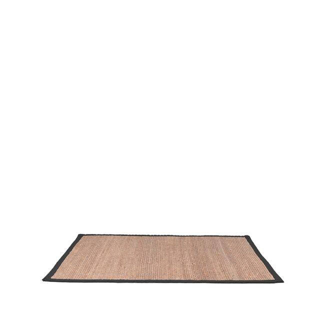 LABEL51 Vloerkleed Jute - Zwart - Jute - 230x160 Cm